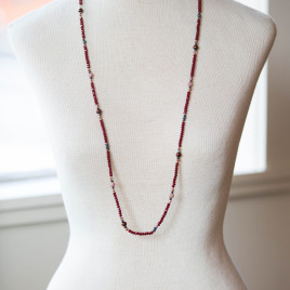 Thin Red Necklace